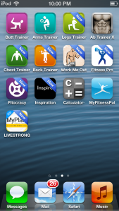screen shot fitness apps